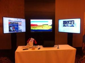 Sewa Smart TV 50' sebanyak 3 unit pada Acara di Hotel Fairmont Jakarta